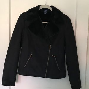 Chaps faux suede fitted coat